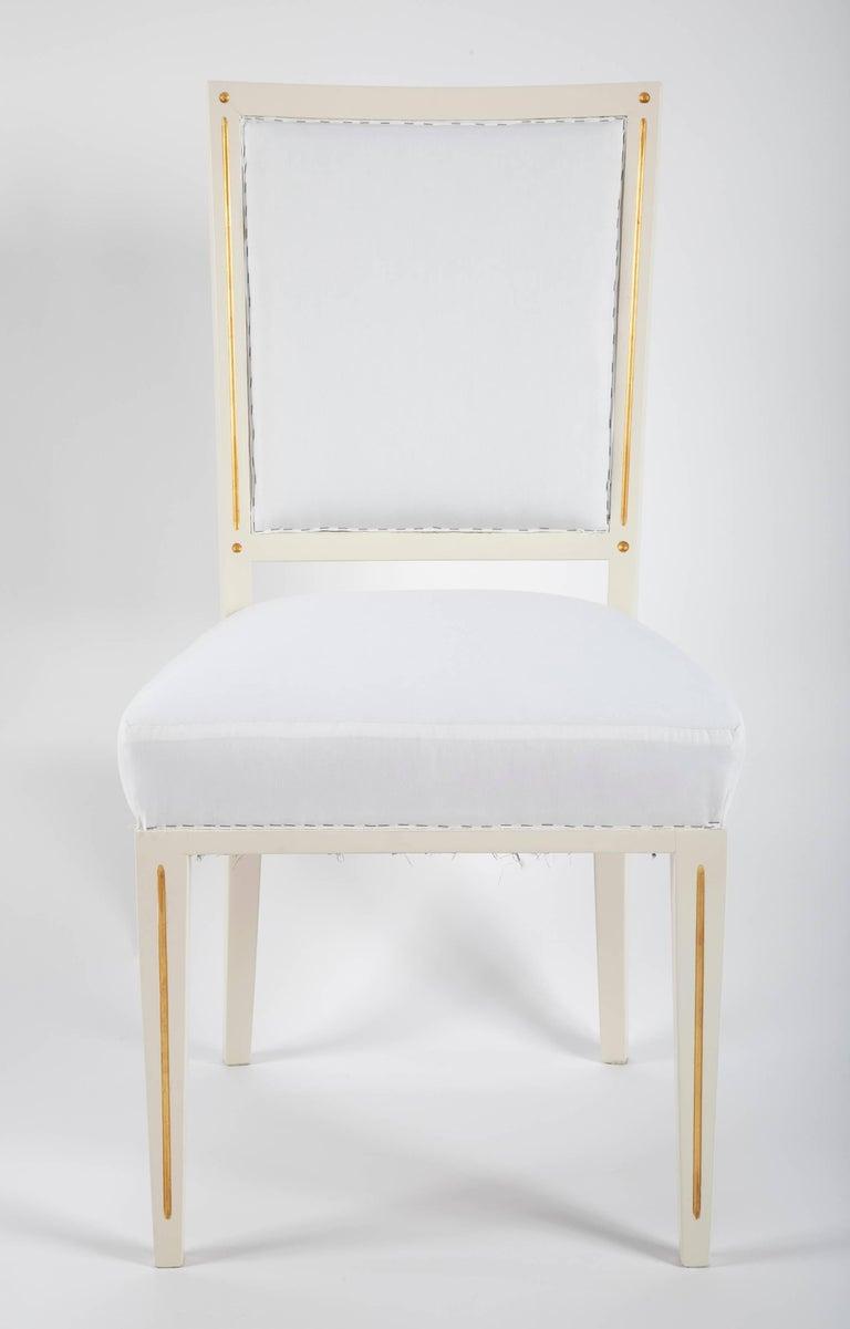Louis XVI Set of Dining Chairs from Bellevue Palace/Berlin by Carl-Heinz Schwennicke For Sale