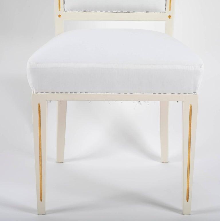 German Set of Dining Chairs from Bellevue Palace/Berlin by Carl-Heinz Schwennicke For Sale