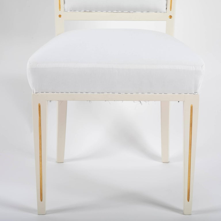 Set of Dining Chairs from Bellevue Palace/Berlin by Carl-Heinz Schwennicke In Good Condition For Sale In Stamford, CT