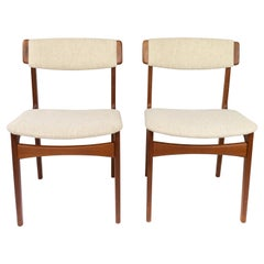 Set of Dining Room Chairs in Teak by Erik Buch, 1960s