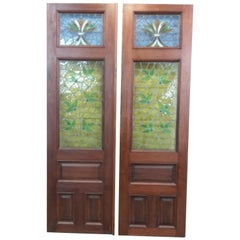 Set of Doors with Stained Glass