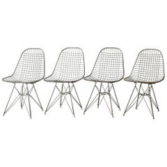 Set of Eames for Herman Miller Wire DKR Chairs, circa 1950