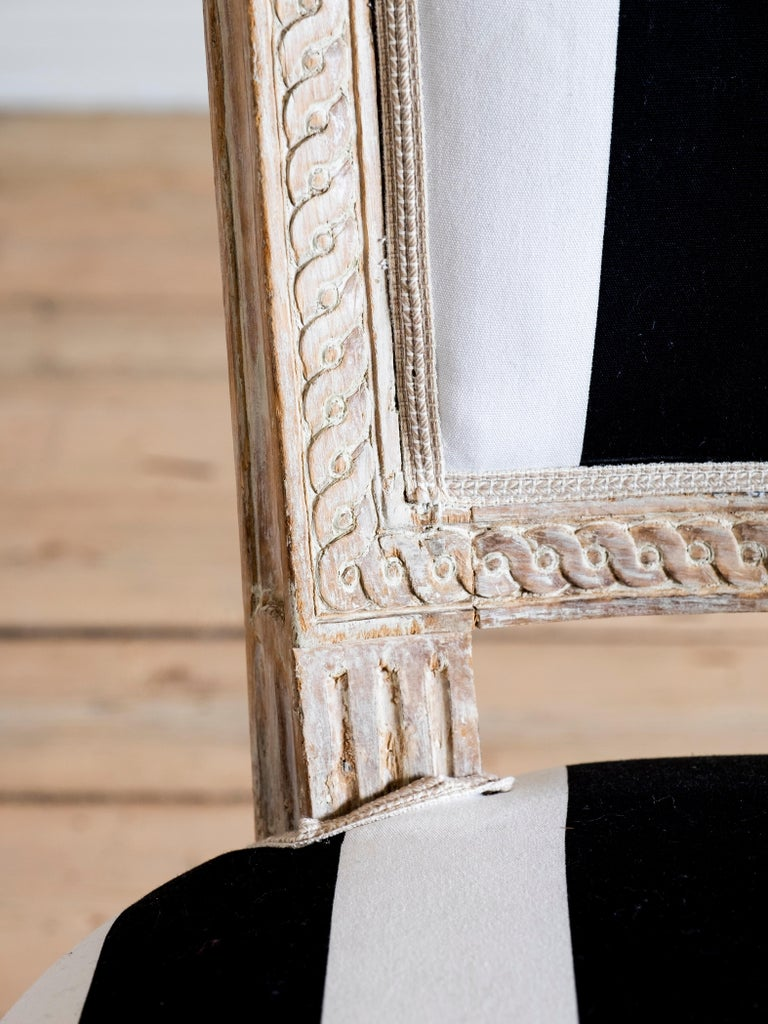Wood Set of Eight 18th Century Gustavian Dining Chairs For Sale