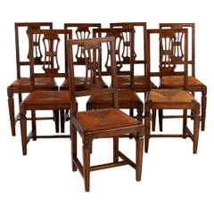 Set of Eight 18th Century Italian Side Chairs