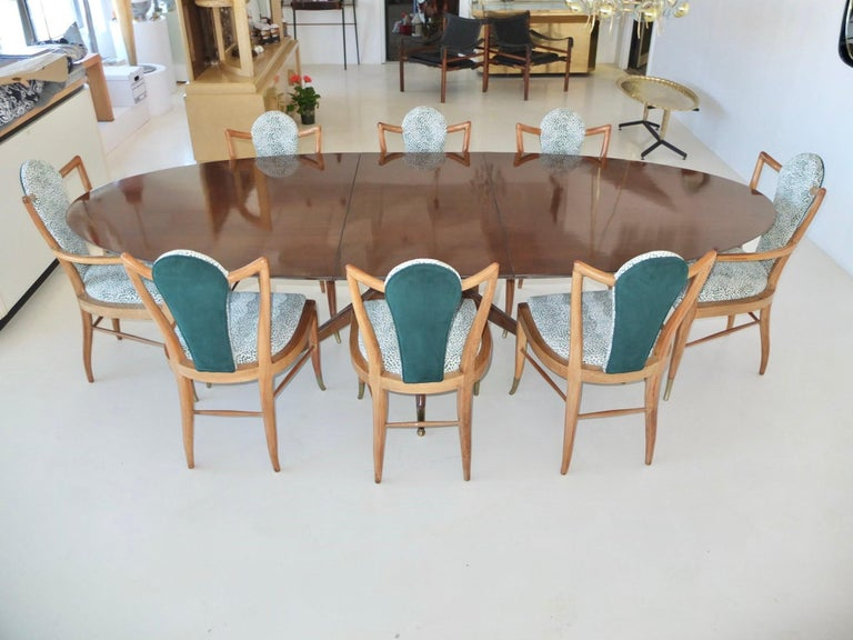 Mid-Century Modern Set of Eight 1950s Dining Chairs by Adolfo Genovese For Sale