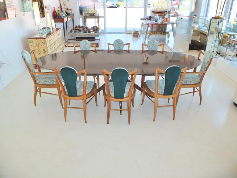 American Set of Eight 1950s Dining Chairs by Adolfo Genovese For Sale