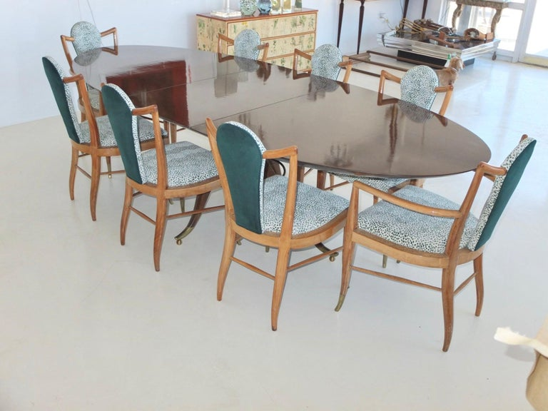 Mid-20th Century Set of Eight 1950s Dining Chairs by Adolfo Genovese For Sale