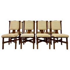 Set of Eight 1970s Italian Dining Chairs