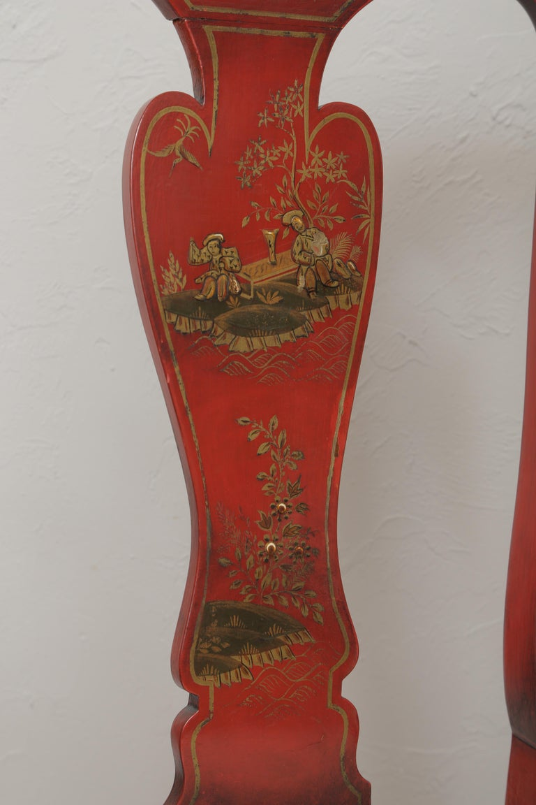 Set of Eight 19th Century Chinoiserie Style Dining Chairs For Sale 7