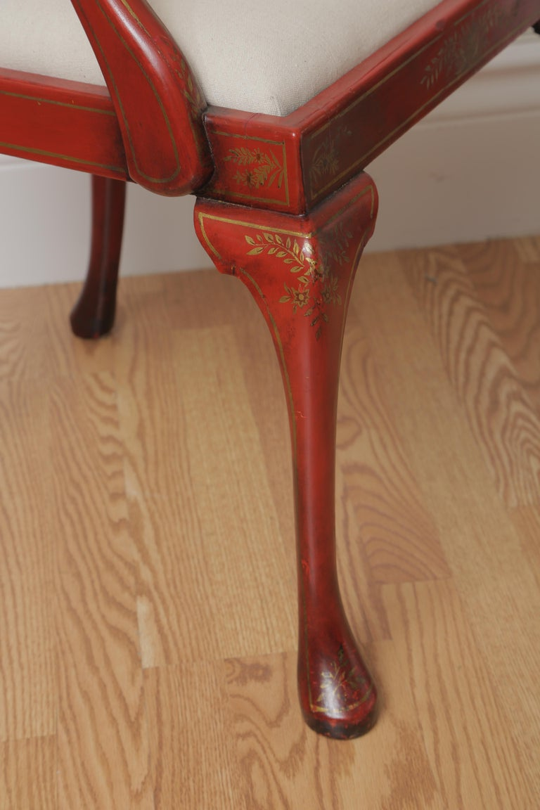 Set of Eight 19th Century Chinoiserie Style Dining Chairs For Sale 9