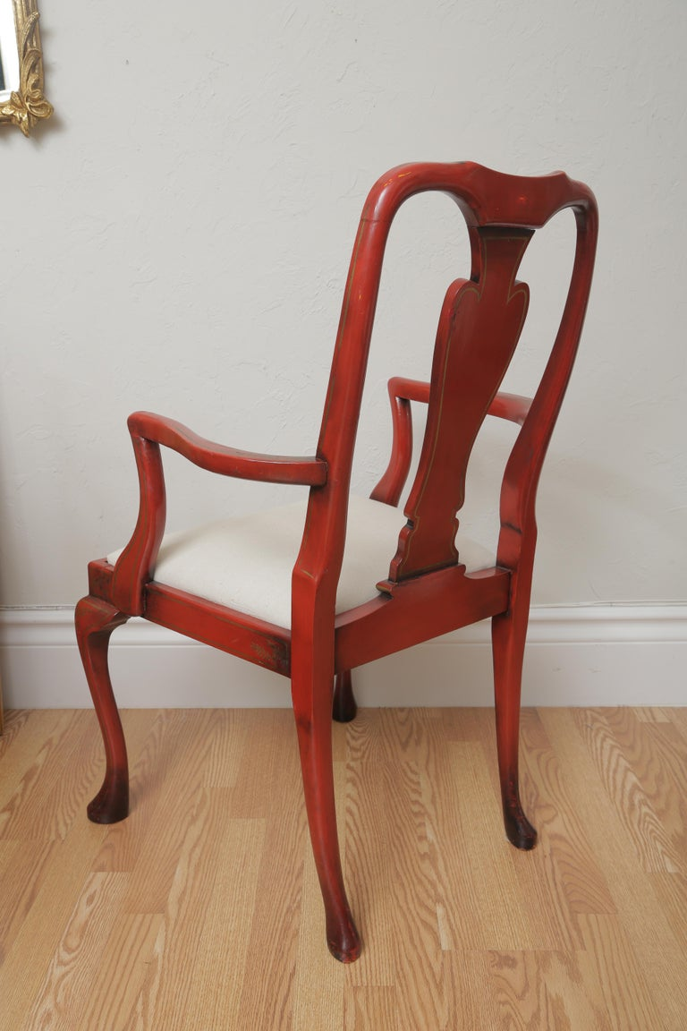 Set of Eight 19th Century Chinoiserie Style Dining Chairs For Sale 12