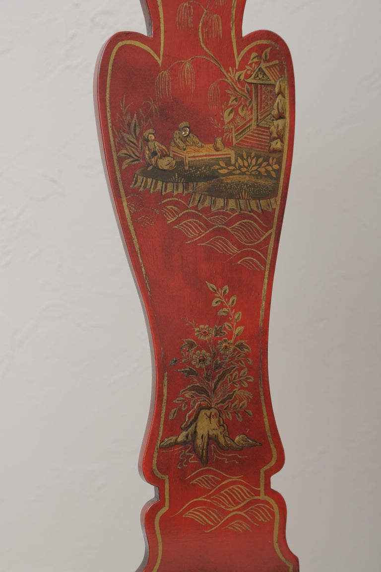 Set of Eight 19th Century Chinoiserie Style Dining Chairs For Sale 13