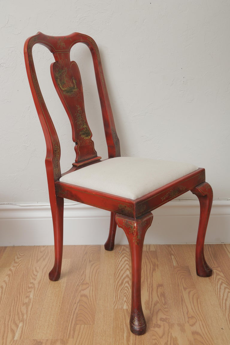 Set of Eight 19th Century Chinoiserie Style Dining Chairs For Sale 1