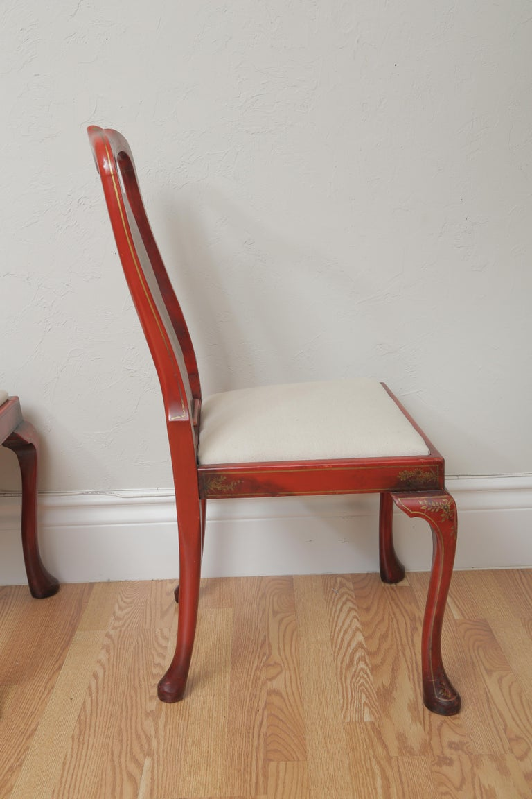 Set of Eight 19th Century Chinoiserie Style Dining Chairs For Sale 3