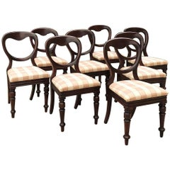 Set of Eight 19th Century French Louis Philippe Mahogany Chairs
