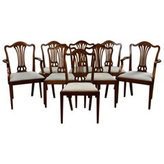 Set of Eight 19th Century Mahogany Dining Chairs