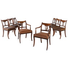 Set of Eight 19th Century Regency Mahogany Dining Chairs