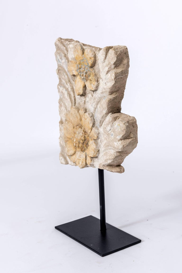 French Set of Eight 19th Century Stone Fragments on Stands For Sale