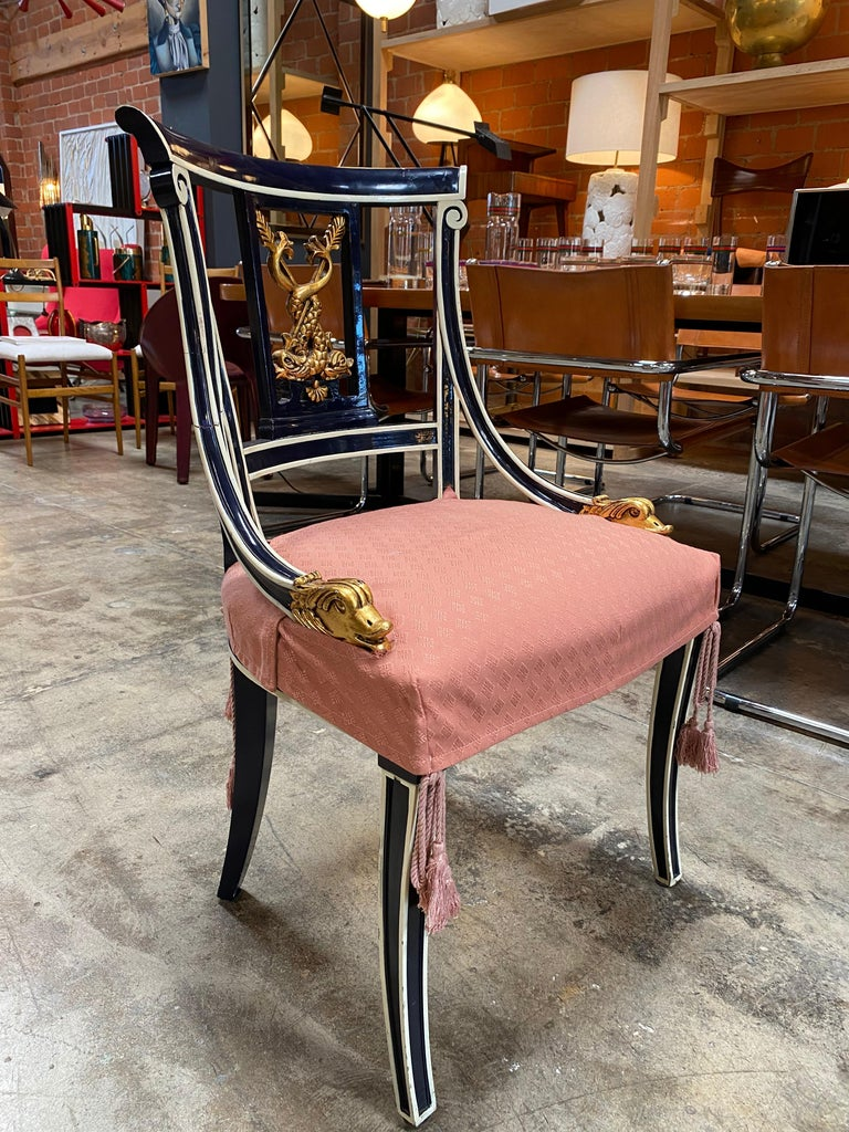 Set Of 8 Venetian Dining Chairs 1920s In Good Condition For Sale In Los Angeles, CA