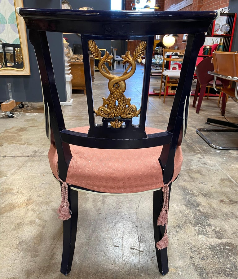19th Century Set Of 8 Venetian Dining Chairs 1920s For Sale