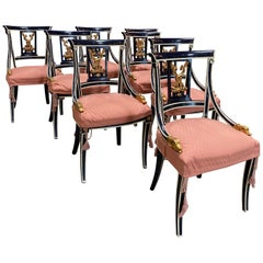 Set Of 8 Venetian Dining Chairs 1920s
