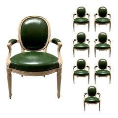 Set of Eight 20th Century Louis XVI Style Armchairs