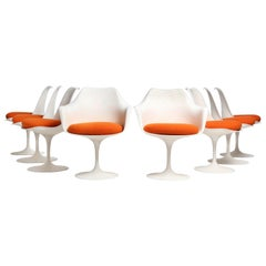 Set of Eight (8) Tulip Chairs by Eero Saarinen for Knoll
