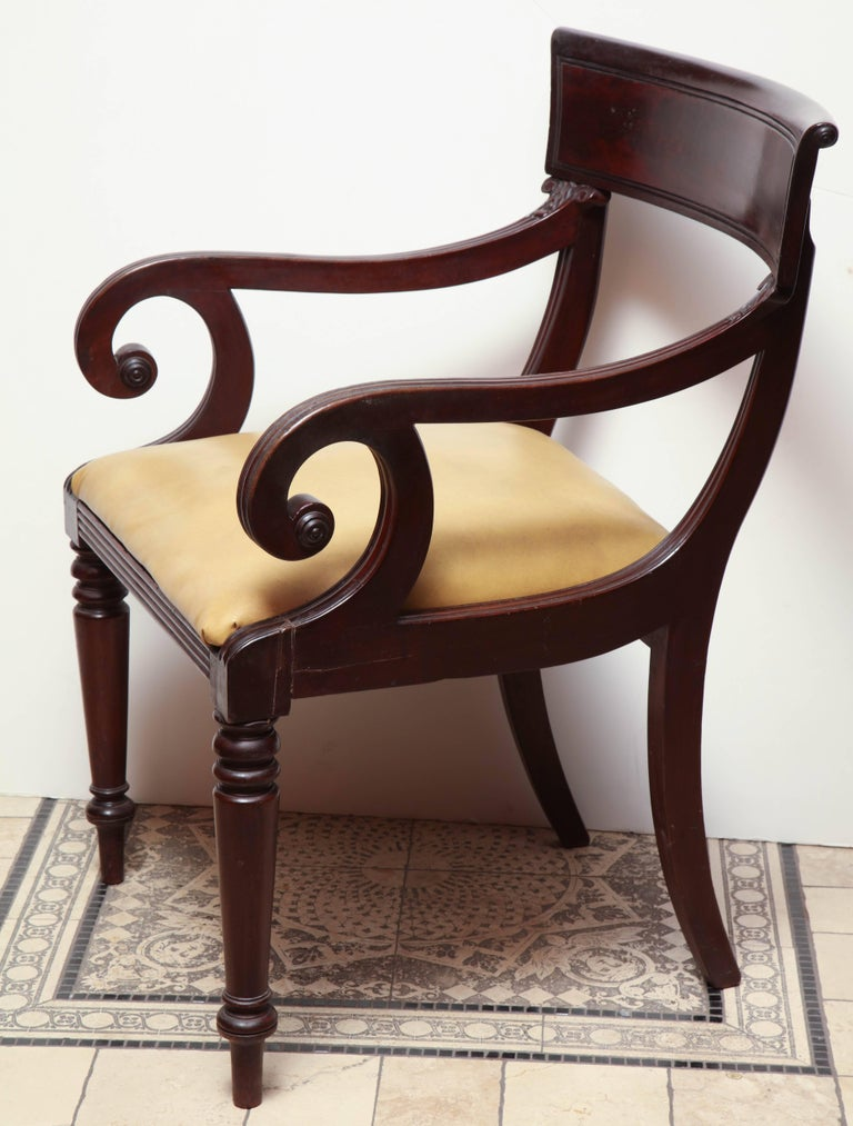Set of Eight American Dining Chairs For Sale 3