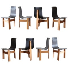 Set of Eight Angelo Mangiarotti Chairs