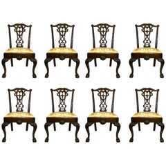 Set of Eight Antique English 19th Century Mahogany Dining Chairs