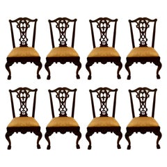 Set of Eight Antique Fine Quality Mahogany Dining Chairs, circa 1850-1860