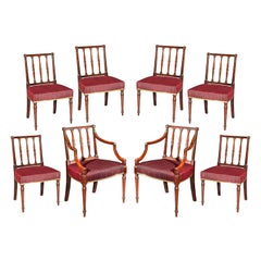 Set of Eight Antique Georgian Dining Chairs, circa 1780