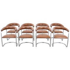 Set of Eight Anton Lorenz for Thonet Dining Chairs