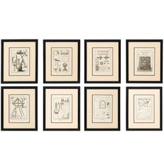 Set of Eight Architectural Prints