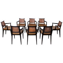 Set of Eight Armchairs by Edward Wormley for Dunbar