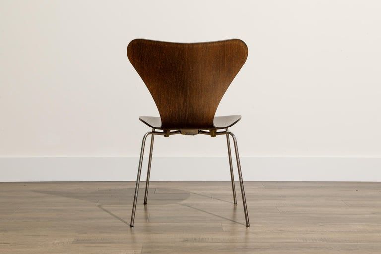 Set of Eight Arne Jacobsen for Fritz Hansen 'Series-7' Chairs, c. 1973, Signed  For Sale 5