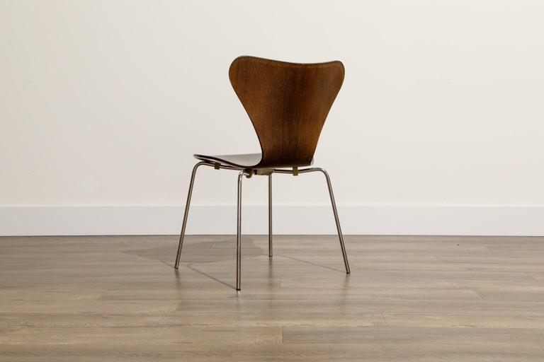 Set of Eight Arne Jacobsen for Fritz Hansen 'Series-7' Chairs, c. 1973, Signed  For Sale 9