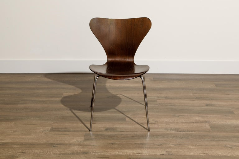 Late 20th Century Set of Eight Arne Jacobsen for Fritz Hansen 'Series-7' Chairs, c. 1973, Signed  For Sale
