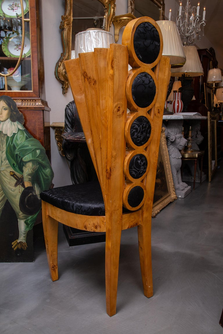 Set of Eight Art Deco Style Dining Chairs In Good Condition For Sale In WEST PALM BEACH, FL
