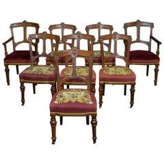 Set of Eight Arts & Crafts Mahogany Chairs