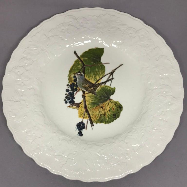 English Set of Eight Audubon Bird Dinner Plates