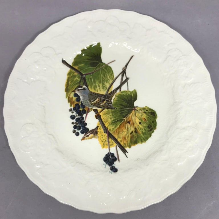 English Set of Eight Audubon Bird Luncheon Plates