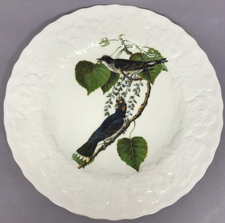 Set of Eight Audubon Bird Luncheon Plates In Good Condition In New York, NY