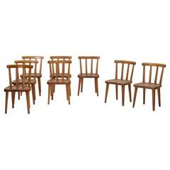 Set of Eight Axel Einar Hjorth Utö Chairs