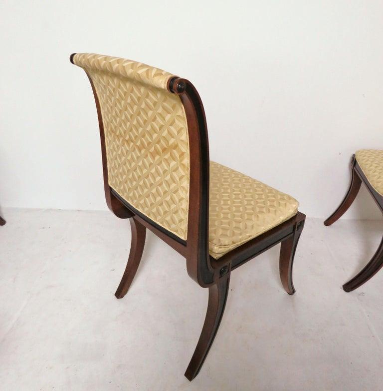 Fine Set Of Eight Baker Furniture Regency Dining Chairs With Klismos Legs Evergreenethics Interior Chair Design Evergreenethicsorg