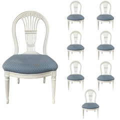 Set of Eight Balloon Back Chairs, Possibly Maison Jansen