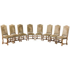 Set of Eight Beech Dining Room Chairs