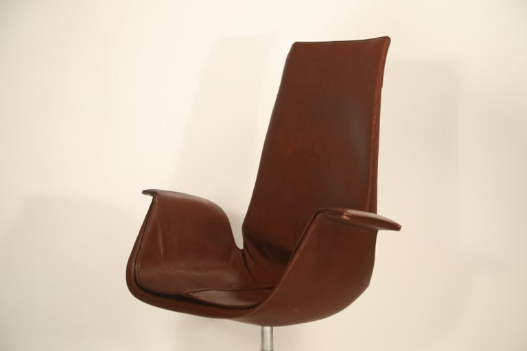 Set of Eight Bird Chairs by Preben Fabricius and Jørgen Kastholm for Alfred Kill For Sale 5