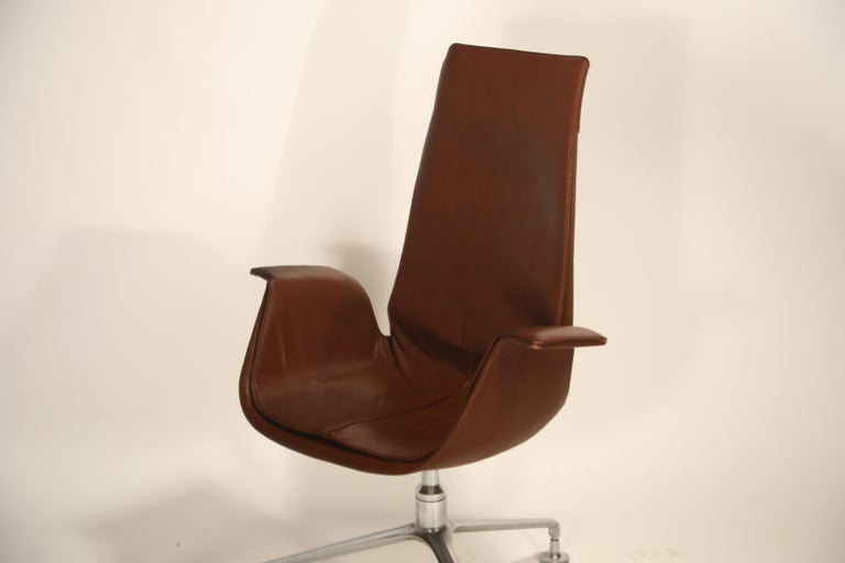 Set of Eight Bird Chairs by Preben Fabricius and Jørgen Kastholm for Alfred Kill For Sale 6