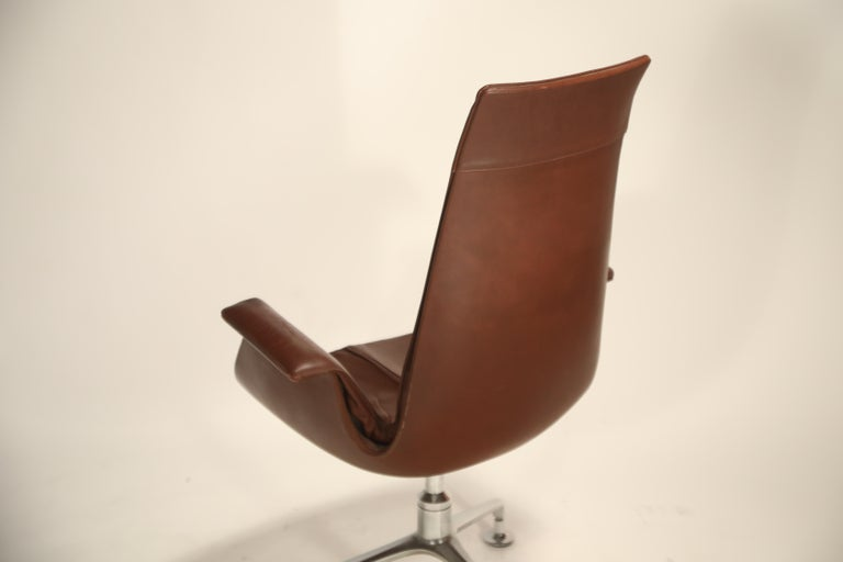Set of Eight Bird Chairs by Preben Fabricius and Jørgen Kastholm for Alfred Kill For Sale 7
